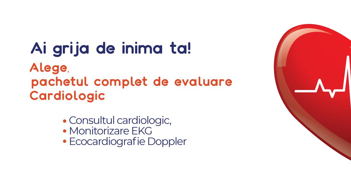Pachet de evaluare cardiologică: consult, ekg, ecografie